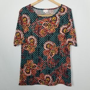 LuLaRoe Simply Comfortable Paisley Patterned Top